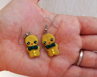 little biscuits earrings gingerbread