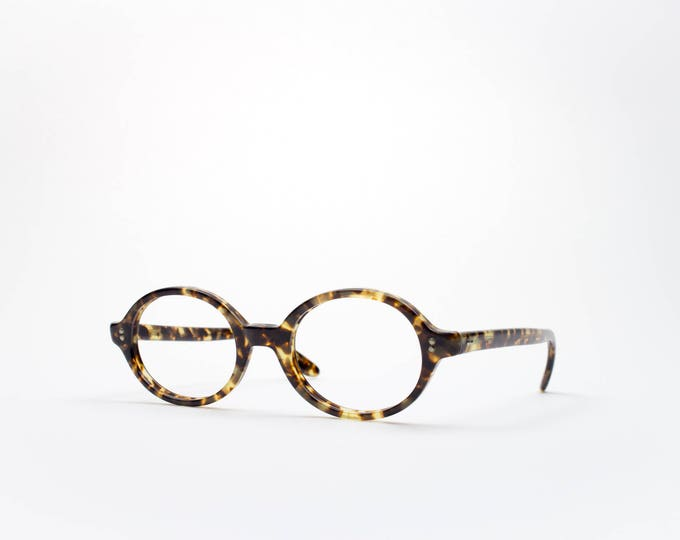 1960s Vintage Eyeglass Frame | Retro Round Eyeglasses | Tortoiseshell 60s Glasses | Swan Optical | Made in USA