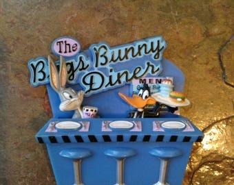 The Bugs Bunny Diner magnet set