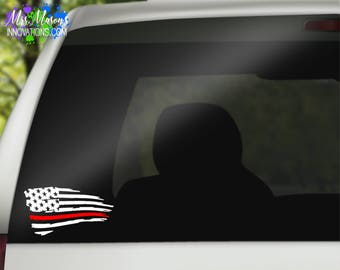Blue Line American Flag Decal, Red Line American Flag Decal, American Flag Decal, Red Flag Decal, Blue Flag Decal, American Flag, red line
