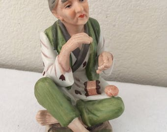 Vintage HOMCO Asian Old Woman Figurine #1431 Collectible Figurine