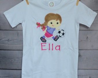 Personalized Girl Soccer Player Snow Angel Surfer Astronaut Hiker Soccer