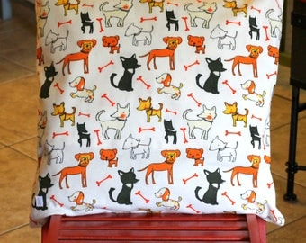 """Decorative pillow 20""""x 20"""" with dog design for you or your pet."""