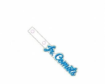 Jr Comets - Key Fob In The Hoop - DIGITAL Embroidery DESIGN