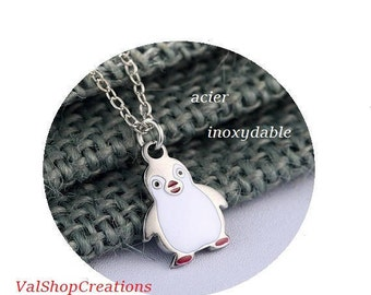 Penguin stainless steel necklace