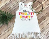 Second Birthday, Twotti Fruity, Birthday Dress, 2nd Birthday, Tutti Frutti party, Personalized Birthday Dress, Girl Birthday,Custom Birthday