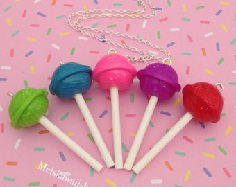 Kawaii Lollipop Necklace (choose your favorite)