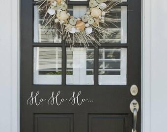 Ho Ho ho door vinyl-Decals-Window Stickers-Home Decor-Snowflakes-Xmas stickers-Window Graphics-Festive Stickers