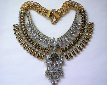 Egyptian Revival Replica Bib Necklace - 5872