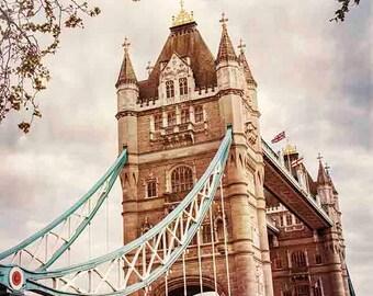 London Print, Tower Bridge Print, London Photography, Tower Bridge Art, Travel Photography, London Art