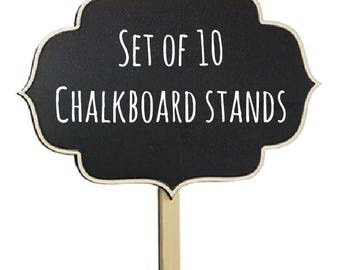 Free shipping Chalkboard stands set of 10 mini Stands