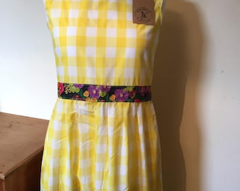 Yellow Gingham Belle dress - Size 12