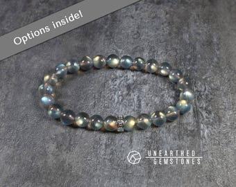 AAA Labradorite Bracelet - Crystal Bracelet, Gemstone Bracelet for Him, Mens Bracelet, Labradorite Jewelry, Gift Idea