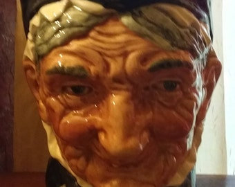 Royal Doulton antique large Toby jug granny 1937 six and a half inches high 42 Oz # 5521