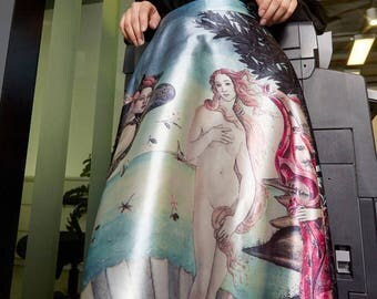 Fine Art Collection oil painting Sandro Botticelli the birth of Venus theme puffy skirt