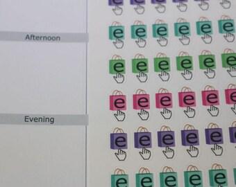 90 shop online stickers,shopping sticker,e shopping,online shopping,planner sticker ------M104P