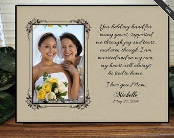 Personalized Wedding Gifts, Mom, I love you Mom, Mothers Day Frame, Custom Wedding Frame, Wedding Gifts for Parents