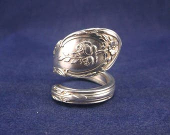 "Spoon Ring 1930 ""Rosemont"" Handmade Spoon Jewelry Size 7 FREE SHIPPING"