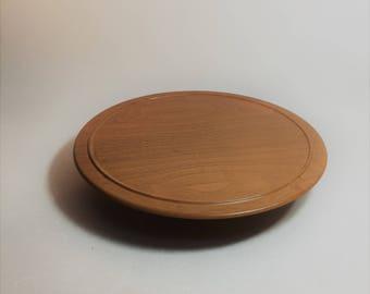 vintage pressed wood lazy susan