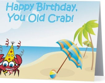 Crabby Birthday Card