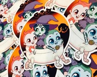 Kidnap the Sandy Claws Sticker ( lock shock barrel nightmare before christmas chibi adorable kawaii )