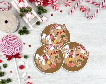 Kawaii Gingerbread Reindeer Christmas Sticker ( cute stickers )