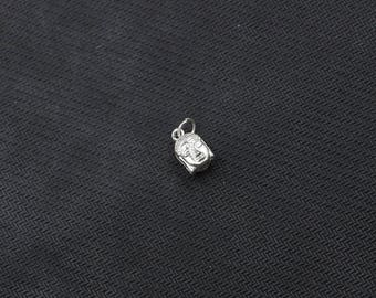 11mm Sterling Silver Buddha Head Pendants -- 925 Silver Charms Wholesale For Bridesmaid Gift Party XXSP-S0384