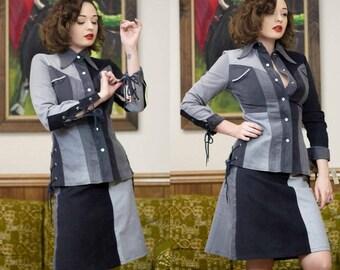 60s Suede Suit | 60s Suit | 1960s Suit | 60s Suede Jacket | Western Jacket | Western Suit | Mod | Patchwork Jacket | Fitted Suit | Patchwork