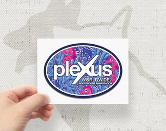 Plexus Lilly Print Inspired Seahorse Oval Decal - 74361AO