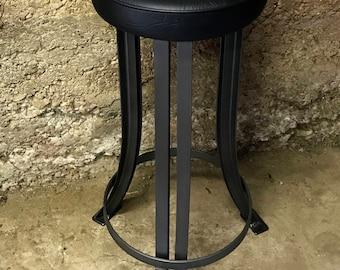 industrial bar stool, industrial stool, bar stool, steel stool