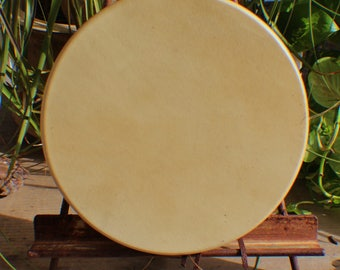 "10"" Deer Hide Hand Drum Native American Made William Lattie Cherokee comes w/ Certificate of Authenticity FREE US SHIPPING"