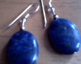 Lapis lazuli stone earrings