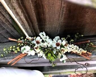 Woodsy Grapevine Floral Hair Comb Perfect for Wedding Hairstyles--Bridal Hair Wreath--Hair Florals--Handmade Hair Tiara