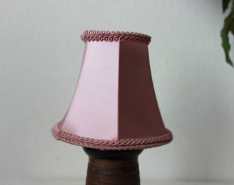 Light pink silk lampshade vintage