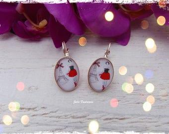"Earrings ""Mode Paris"" - Oval Cabochon"