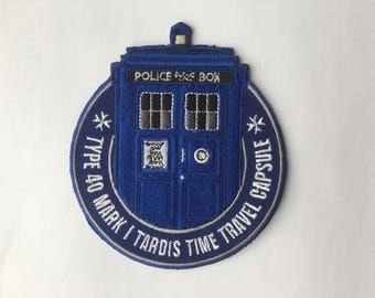 Embroidered Doctor Who TARDIS Patch