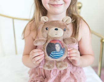 Photo Gifts, Memory Stuffed Bear, Remembrance Gifts, Bereavement Gifts, Keepsake Bear, Memorial Gifts for Kids, In Memory of Sympathy Gift