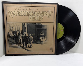 The Grateful Dead Workingman's Dead vinyl record 1970 || Upside down rear cover VG/VG+