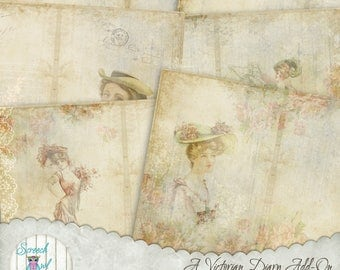 Add-on Journal Pages, Digital Journal, Journal Cards, Junk Journal, Paper Craft Supplies, Printable stationery - 'A Victorian Diary #2'