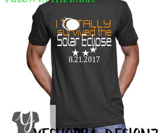 Glow in The Dark Total Solar Eclipse, Solar Eclipse Shirt, Solar Eclipse 2017, Astronomy Gift, Totality Shirt, I Survived Eclipse Shirt