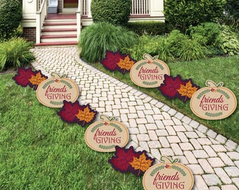 Friends Thanksgiving Feast   Shaped Lawn Decorations   Outdoor  Friendsgiving Yard Party Decorations   Fall Decor