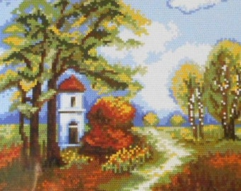 Needlepoint tapestry kit, LITTLE CHAPEL, 24 x 30 cm, AR704