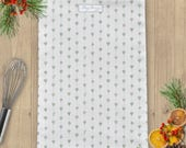 Green Hearts & Roses Linen Union Tea Towel