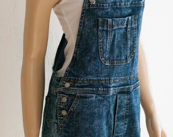 Women's Denim Bib Overall Shorts. Denim Overalls. Music Festival Clothing. Denim Shorts.