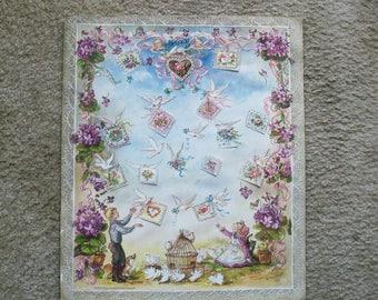 Vintage Tasha Tudor Valentine's Day Advent Calendar 1990