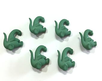 Dinosaur Buttons Jesse James Buttons Boyz Toyz Dress It Up Buttons Set of 6 Shank Back Green - 97