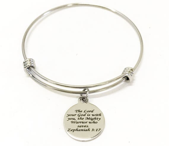Scripture Bracelet, Zephaniah 3 17 Bracelet, The Lord Is With You Bracelet, Scripture Gifts, Bible Verse Gifts, Bible Verse Bracelet Gift