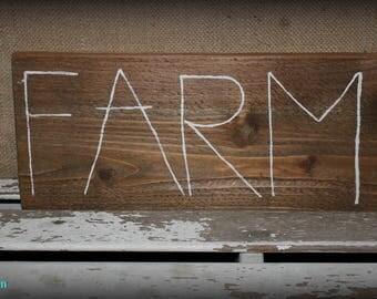 Farm Sign / Farmhouse Wood Sign / Farmhouse Wall Decor / Country Decor / Rustic Wood Sign / Farmhouse Home Decor / Rustic Decor / Farm