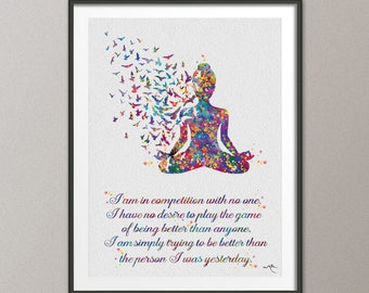 yoga art  etsy