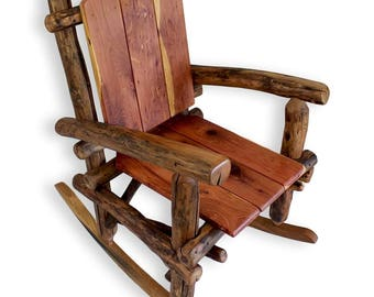 wood rocking chair rustic rocking chair patio rocker custom rocking chair reclaimed